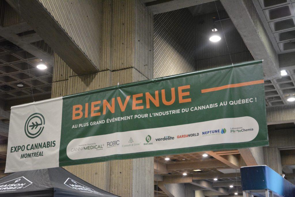 Montreal Cannabis Expo entrance banner