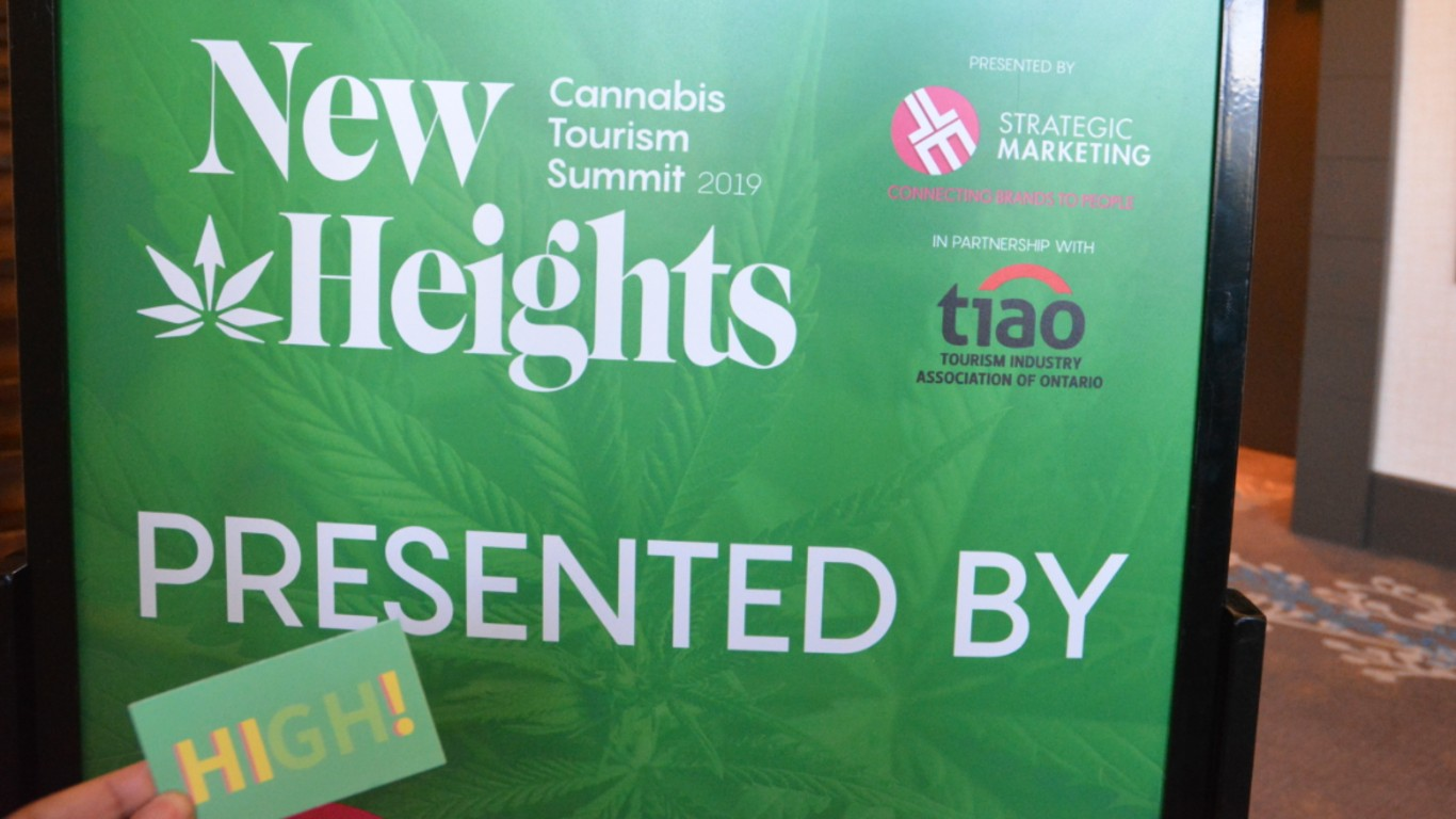 cannabis tourism summit sign