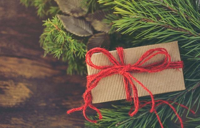 A Christmas present representing a cheap cannabis gift